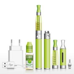 E-cigarette, e-liquid apple