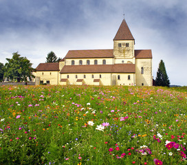 Church St. Georg of Reichenau, Oberzell, Lake Constance, Germany