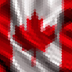 Mosaic background for your design. Canada flag.