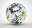 ������, ������: Webdesign Kugel rotiert SEO Templates Provider