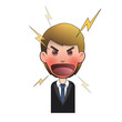 Angry businessman and shouting