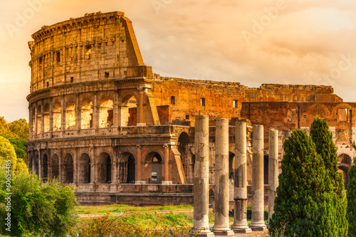 The Majestic Coliseum, Rome, Italy. - 60654485