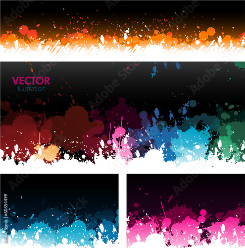 Paint splat banners background