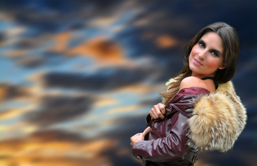 pelliccia - donna in pelliccia