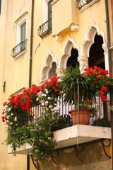 Balcone fiorito a Venezia