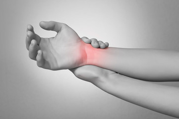 Woman with wrist pain