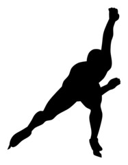 Silhouette of Ice Speed Skater