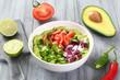 guacamole avocado peperoncino pomodoro e cipolla