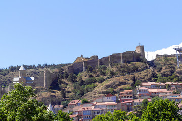 Medieval castle of Narikala and Tbilisi city overview, Georgia