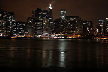 Famous and Beautiful night view to Manhattan from Brooklyn, USA