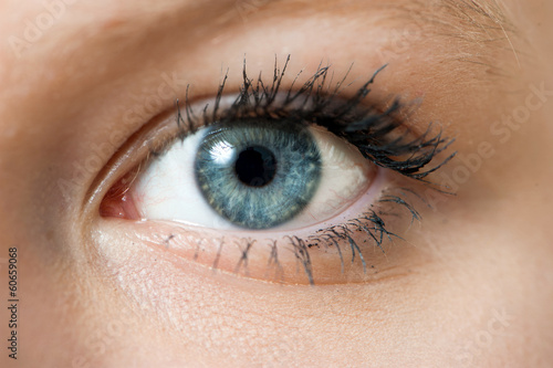 canvas print picture Blaues Auge
