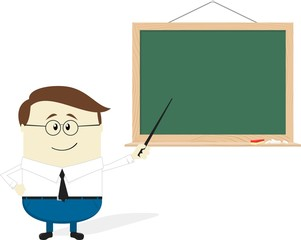 teacher flat design