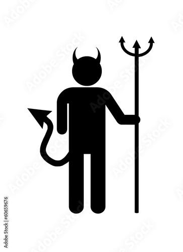 canvas print picture Satan