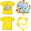 kid shirt with cute seal printed