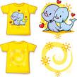 kid shirt with cute seal printed