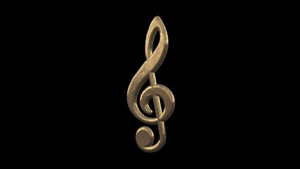 Treble clef with an alpha channel