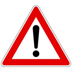 Gefahrstelle - Gefahrzeichen