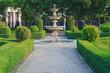 Leinwanddruck Bild - Fountain in public park