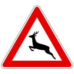 Wildwechsel (Aufstellung rechts) – Gefahrzeichen
