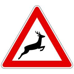 Wildwechsel (Aufstellung links) – Gefahrzeichen