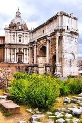 Arch of Septimius Severus in the Forum, Rome, Italy