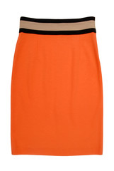 stockinet orange skirt