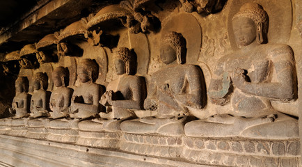 India, Ellora Buddhist cave