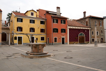 Koper - Winter day in carpaccio square, Slovenia
