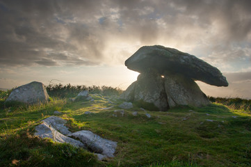Chun Quoit Cornwall England UK