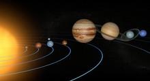 Układ Słoneczny planety przestrzeni wszechświata słońce