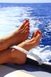 canvas print picture - Relaxen auf dem Boot!