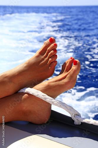 canvas print picture Relaxen auf dem Boot!