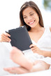 Tablet computer - lifestyle with young woman