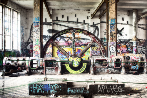 Fototapeta Abandoned factory