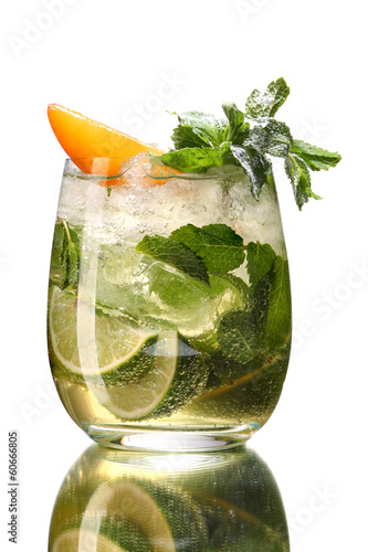 Fresh mint and lime water