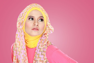 portrait of beautiful woman wearing hijab