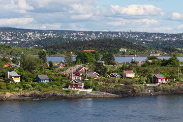 House on an island in the Oslo fjord, Norway