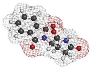 Thalidomide theratogenic drug molecule.