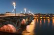 Pont-Neuf de nuit à Toulouse