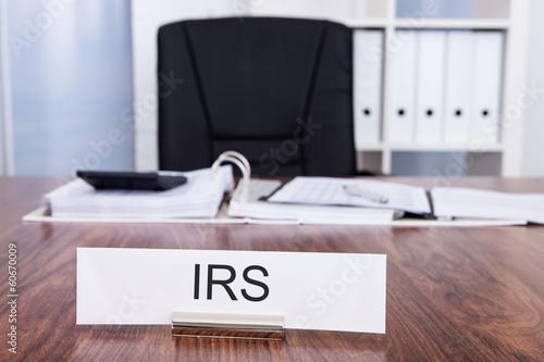 Irs Nameplate In Office