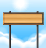 An empty wooden signboard