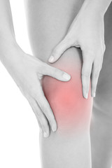 Woman Heaving Leg Injury