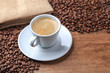 freshly brewed coffee background