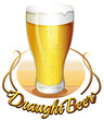 Draught beer label
