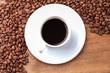 freshly brewed espresso closeup