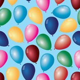colorful balloons with helium pattern eps10