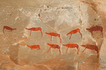 Bushmen rock painting, Drakensberg mountains