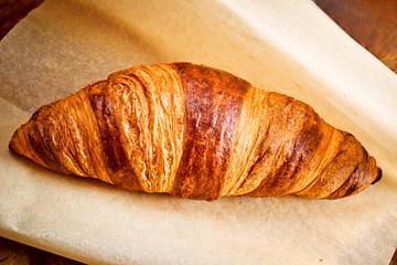Croissant on parchment