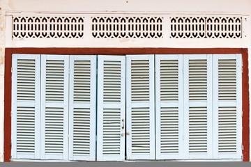 wooden front door to the hous
