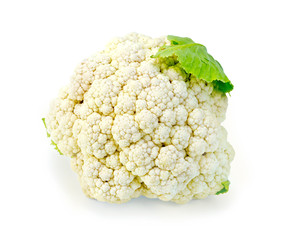 Cauliflower with leaf